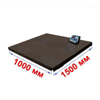 Весы с платформой 1000х1500 мм