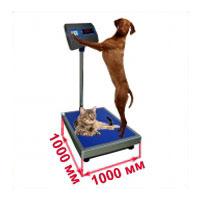 Весы с платформой 1000х1000 мм ветеринарные