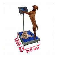 Весы с платформой 800х1000 мм ветеринарные