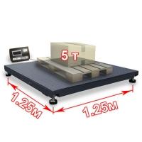 весы «вп-5000» платформенные до 5000 кг платформа 1250х1250 мм Смартвес