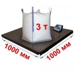 Весы «Циклоп» платформенные до 3000 кг платформа 1000х1000 мм