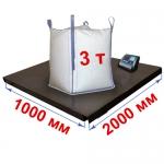 Весы «Циклоп» платформенные до 3000 кг платформа 1000х2000 мм