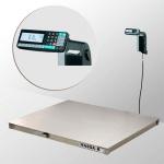 Весы «4D-P.S-2-1500-RL» платформенные с печатью этикеток 1000х1250 мм  из нержавеющей стали