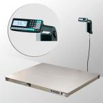 Весы «4D-P.S-3-1000-RL» платформенные с печатью этикеток 1500х1250 мм из нержавеющей стали