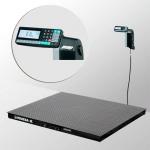 Весы «4D-PM-2-1500-RL» платформенные с печатью этикеток платформа 1200х1000 мм