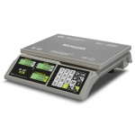Торговые настольные весы M-ER 326AC LCD Slim белые