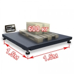 Весы «ВП-600» платформенные до 600 кг платформа 1500х1500 мм