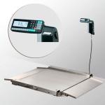 Весы «4D-LA.S-4-1000-RL» низкопрофильные с печатью этикеток 1500х1200 мм с пандусами из нерж. стали