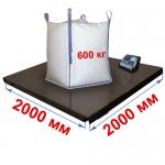 Весы «Циклоп» платформенные до 600 кг платформа 2000х2000 мм