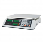 Торговые настольные весы M-ER 327AC-32.5 LCD Ceed белые