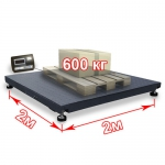 Весы «ВП-600» платформенные до 600 кг платформа 2000х2000 мм