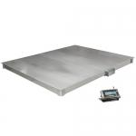 Весы «4D-P.S-2-1500» платформенные до 1500 кг 1000х1250 мм  из нерж. стали
