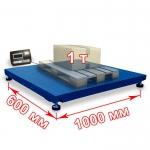 Весы «Циклоп» платформенные до 1000 кг платформа 600х1000 мм