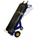 Тележка для баллонов ГБТ-2 (200 кг, для 2-х газовых баллонов,высота 1700 мм, колеса литые)