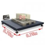 Весы «ВП-2000» платформенные до 2000 кг платформа 750х750 мм