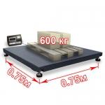 Весы «ВП-600» платформенные до 600 кг платформа 750х750 мм
