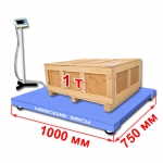 Весы «ВСП4-А» платформенные до 1000 кг платформа 1000х750 мм, стойка