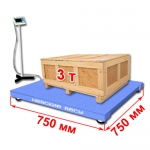 Весы «ВСП4-А» платформенные до 3000 кг платформа 750х750 мм, стойка