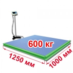 Весы с ограждением и стойкой «ВСП4-Т» платформенные 1250х1000 мм 600 кг