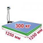 Весы с ограждением и стойкой «ВСП4-Т» платформенные 1250х1250 мм 300 кг