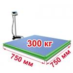 Весы с ограждением и стойкой «ВСП4-Т» платформенные 750х750 мм 300 кг