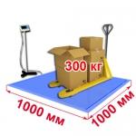 Весы «ВСП4-В» платформенные врезные со стойкой 1000х1000 мм 300 кг