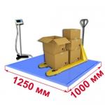 Весы «ВСП4-В» платформенные врезные со стойкой 1250х1000мм