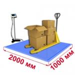 Весы «ВСП4-В» платформенные врезные со стойкой 2000х1000мм