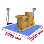 Весы «ВСП4-В» платформенные врезные со стойкой 2000х2000мм