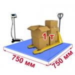 Весы «ВСП4-В» платформенные врезные со стойкой 750х750 мм до 1000 кг