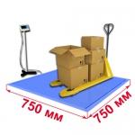 Весы «ВСП4-В» платформенные врезные со стойкой 750х750мм