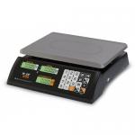 Торговые настольные весы M-ER 327AC-32.5 LCD Ceed черные