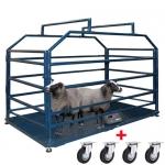 Весы «Живой вес» для взвешивания мелких животных с колесами 2000х1000 мм мобильные